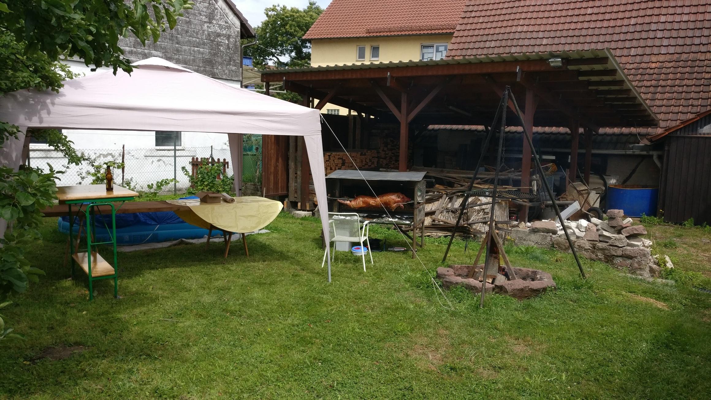 Spanferkel Grillen am 01.07.2017